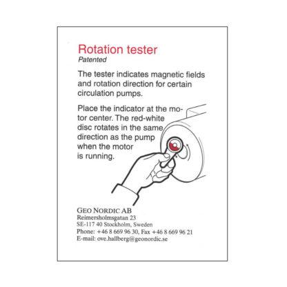 Circulation Pump Rotation Tester