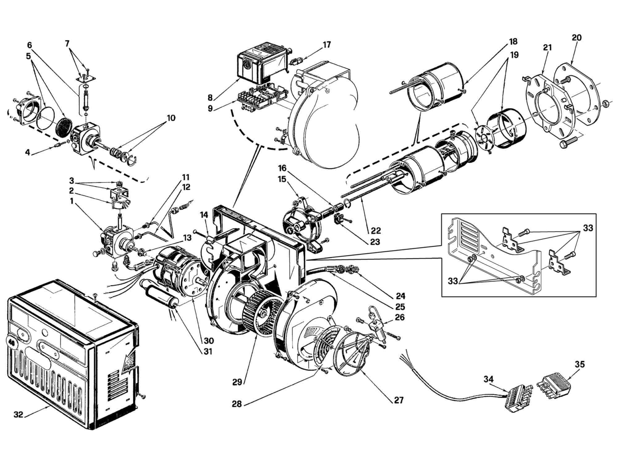 riello r40 g10 burner parts