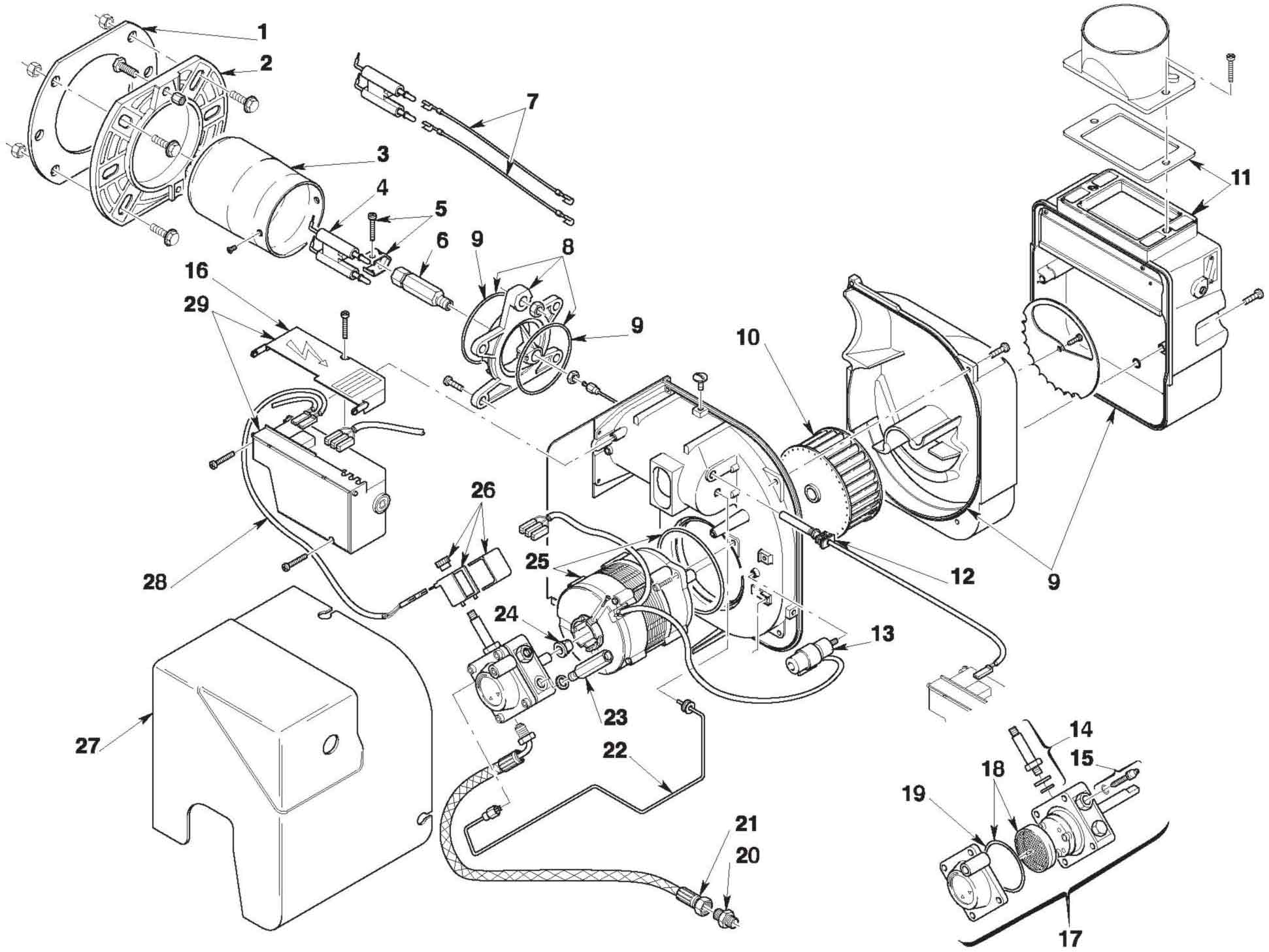 Diagram  Beckett Burner Parts Diagram Full Version Hd