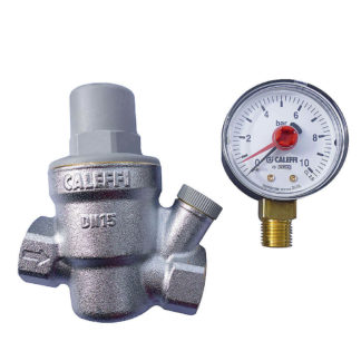 Caleffi Inclined Pressure Reducing Valve Plus Pressure Gauge Separately 533241
