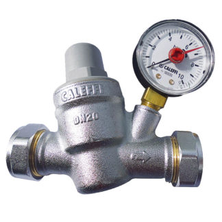 Caleffi 22mm Pressure Reducing Valve 533851 With Pressure Gauge