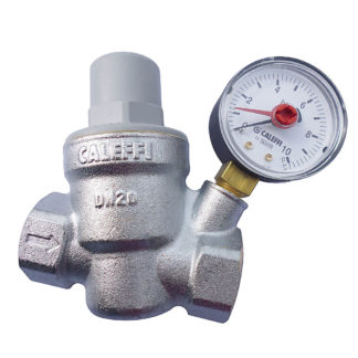 "Caleffi Female 3/4"" Pressure Reducing Valve and Pressure Gauge 533251"