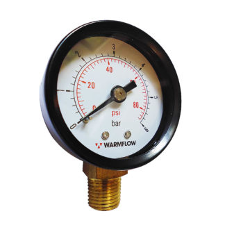 Warmflow Pressure Gauge 3019 Front Face Photo