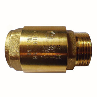 Firebird Check Valve, ¾″ Brass Male/Female