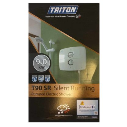 Triton T90SR 9kW Electric Shower box
