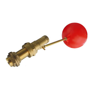 "1/2"" Part 1 Ball Cock Float Valve With 6"" Arm & Plastic Float"