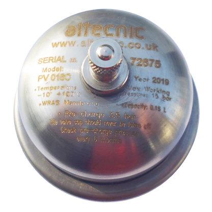 Altecnic Shock Arrestor-Mini Expansion Vessel (0.16L) 1-2- M, PV016C Top Photo