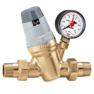 "Caleffi 1/2"" Adjustable Pressure Reducing Valve With Gauge, 535041"