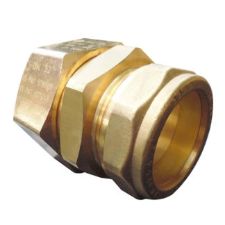 TracPipe Copper Compression Coupling DN32 x 35mm, FGP-32x35mm, Side View Photo
