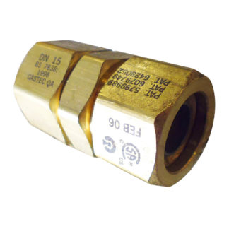 TracPipe Coupling Adapter DN15 Side Photo
