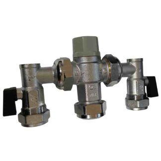 ALTECNIC CA-100828 Thermostatic Mixing Valve with MX Service Valves 22mm (1)