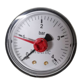 Altecnic 0-4 Bar Back Connection 14 Pressure Gauge (1)