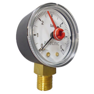 Altecnic 0-6 Bar Back Connection 1-4 Inch Pressure Gauge, WI-557306