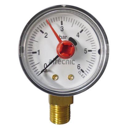 Altecnic 0-6 Bar Back Connection 1-4 Inch Pressure Gauge, WI-557306 , Front Photo