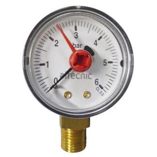 Altecnic 0-6 Bar Back Connection 1-4 Inch Pressure Gauge, Front Photo