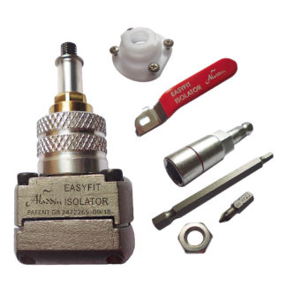 Aladdin EasyFit Isolator Valve 22mm Starter Kit and Tools Pack Photo