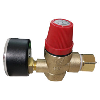 Altecnic 313430 Female x Female Thread 3 Bar Safety Relief Valve Complete With Gauge 1/2inch Assembled Photo