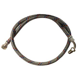 Flexible Oil Hose/Line, 1000mm, 1/4? x 3/8? - Pack of 10