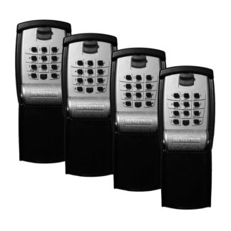 Sentinel Push Button Wall Mounted Key Safe [4 Pack]