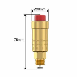 "Flamco Flexvent 3/8"" Floatvent c/w shut-off valve - Automatic Air Vent 27750"