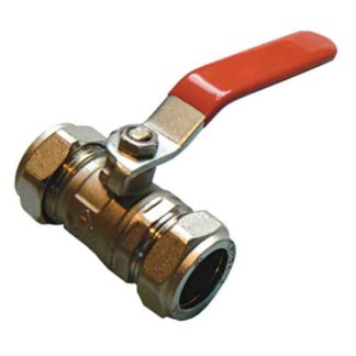 QLEC red handle lever ball valve - economy CxC 22mm