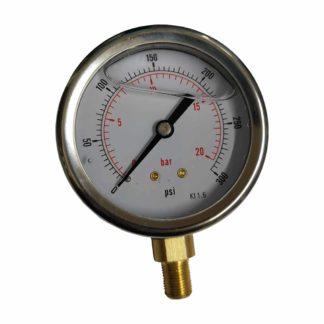 Pressure Gauge 63mm R1/8 D50 0-300 Bar/Psi