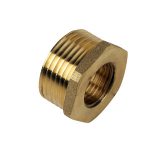 Brass Bush 3/8' x 1/4' (Pack of 5) Front Photo
