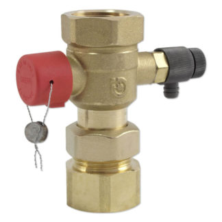 """Caleffi Ball 3/4"""" Shut-Off Valve For Expansion Vessels Front Photo"""