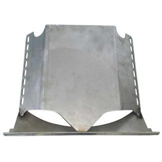 "Firebird Stove Stainless Steel Bottom Baffle, 16"" Front Photo"